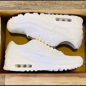 Nike Air Max 90 Triple White Wolf Grey